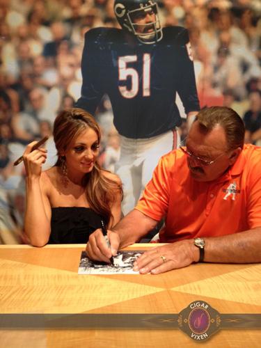 Cigar Vixen Dick Butkus Autograph
