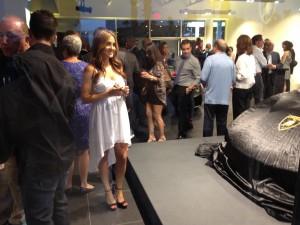 Cigar Vixen at Lamborghini Opening Newport Beach