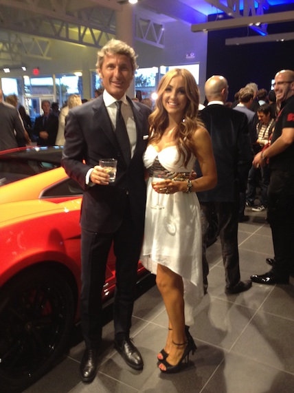 Cigar Vixen with the CEO of Lamborghini