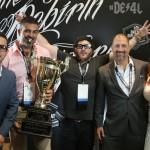 Drew Estate Crew receiving Cigar & Spirits Award