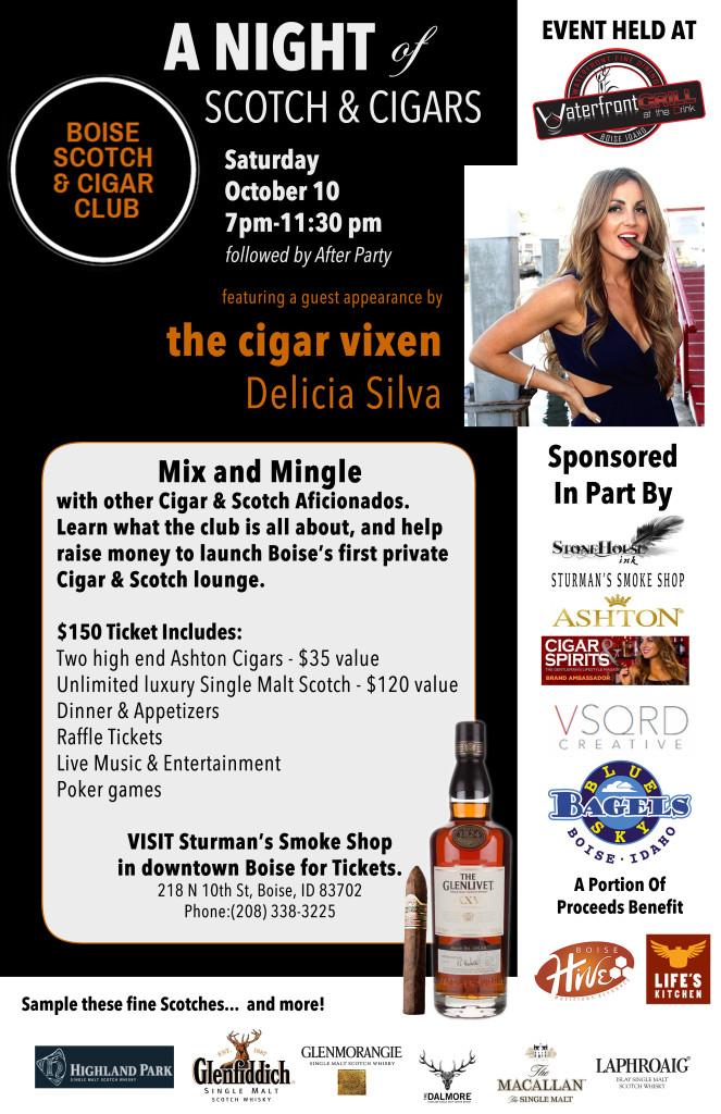 Boise Scotch Cigar Night Poster2