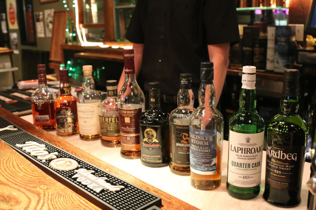 More of the Scotch selection